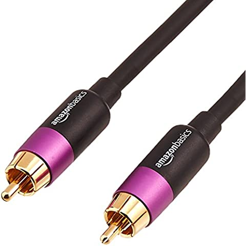 AmazonBasics - Cable para subwoofer (4,5 m)