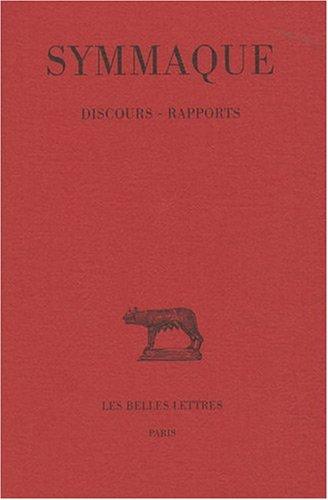 Discours - Rapports par Symmaque