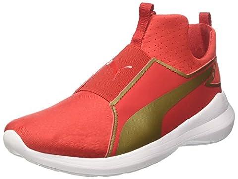 Puma Damen Rebel Mid Wns Summer Sneakers, Rot (High Risk Red Team Gold 02), 36 EU