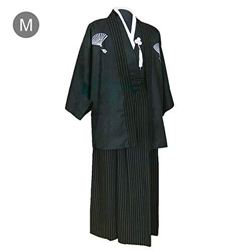 Bulary Männer japanischen Kimono Bühnenkostüme Junge traditionelle Samurai Warrior Robe Outfit Baumwolle Leinen Foto Kleidung männlich