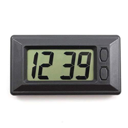 JER LCD Horloge numérique Portable Petite Voiture Horloge Durable véhicule Horloge à Quartz Mini Temps Calendrier Réveil (Stent Fonction) Produits pour Maison/Cuisine