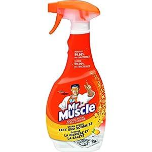 Mr Muscle Küchen Reiniger, Sprühflasche mit antibakterieller Wirkung, Zitronen-Duft, 500 ml, Küche-Total Reiniger
