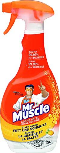 Duft, Antibakteriell (Mr Muscle Küchen Reiniger, Sprühflasche mit antibakterieller Wirkung, Zitronen-Duft, 500 ml, Küche-Total Reiniger)