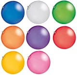 CMG R510X Wasserball Strandball ca. 27cm Wasserspielzeug TRANSPARENTE Farben (R571 Rot)