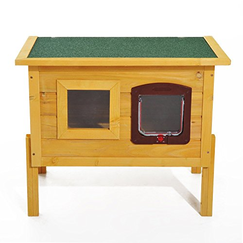 PawHut Cuccia Casetta per Animali Domestici in Legno di Abete 70 x 51.5 x 60cm