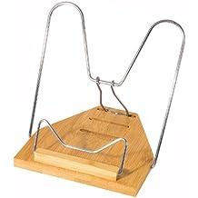 Wedo 211407 Leseständer Bambus, vernickelte Metallbügel, 3 Stufen verstellbar, Maße ca. 21,8 x 17,0 x 3,4 cm (zusammengeklappt), braun