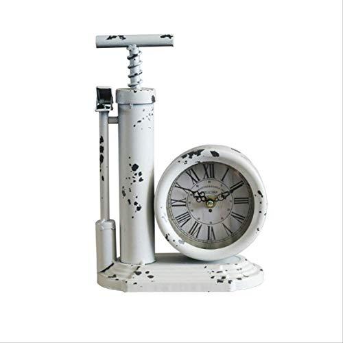 tytlclock Kreative Luftpumpe Modell Tischuhr, Handgemachte Antiken Stil Tischuhr, Für Wohnzimmer Retro Dekoration Desktop Digitaluhr