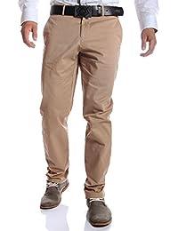 Tommy Hilfiger - Pantalon chino beige coupe droite