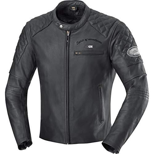 IXS Motorradjacke mit Protektoren Motorrad Jacke Eliott Herren Lederjacke schwarz 64, Chopper/Cruiser, Sommer