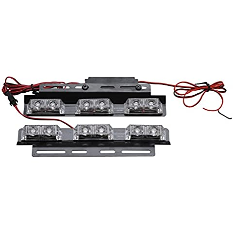biaochi coche Auto LED 6modos de Flash 12V 6W peligro seguridad de emergencia Advertencia linterna parrilla Dash cubierta Barra de luz estroboscópica lámpara KM318