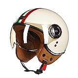 ZNDDB motorradhelm - Helm der Männer und Frauen der Winterweinlese, elektrischer Motorradhelm, Vierjahreszeitenuniversal, Sturzhelm,A,L