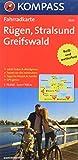 Rügen - Stralsund - Greifswald: Fahrradkarte. GPS-genau. 1:70000: Fietskaart 1:70 000 (KOMPASS-Fahrradkarten Deutschland, Band 3020)