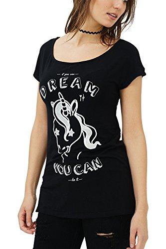 b70b456e5a5f trueprodigy Casual Mujer Marca Camiseta Estampado Ropa Retro Vintage Rock  Vestir Moda Cuello Redondo Manga Corta Slim Fit Designer Cool Urban Fashion  ...
