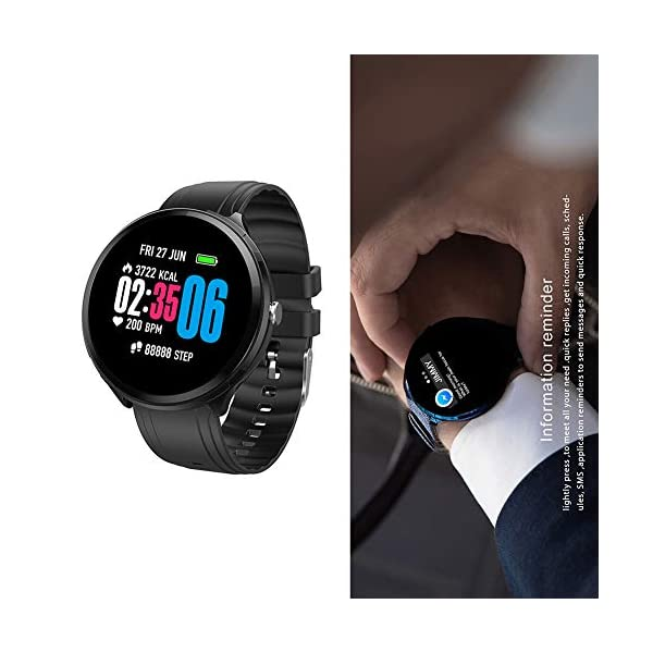 FUPOJW Waterproof IP67 Smart Watch Fitness Activity Tracker with Heart Rate Blood Pressure Monitor Calorie Smartwatch… 10