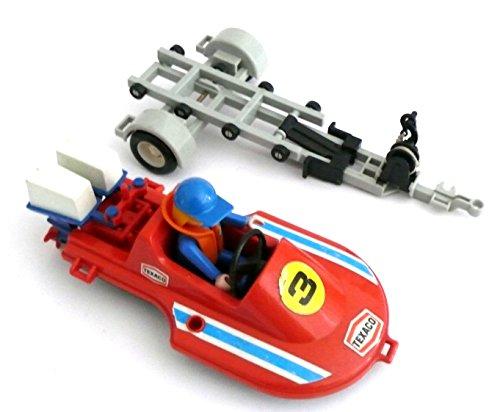 Preisvergleich Produktbild playmobil ® - 3538 Speedboot mit Anhänger und Figur,  Rennboot mit Bootsanhänger