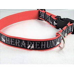 """Halsband""""Therapiehund"""" bis 55 cm Halsumfang"""