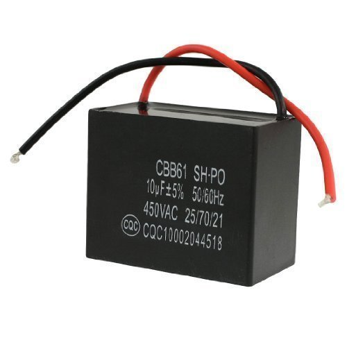 sourcingmap® 450VAC 10uF 50/60Hz Ventola Motore In esecuzione Condensatore
