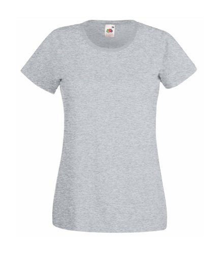 Fruit of the Loom - T-shirt -  Femme Gris