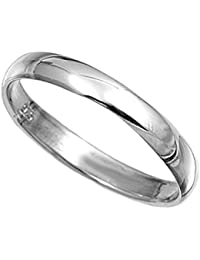 Sterling Silver 8mm Band Ring in sizes G,H,I,J,K,L,M,N,O,P,Q,R,S,T,U,V,W.