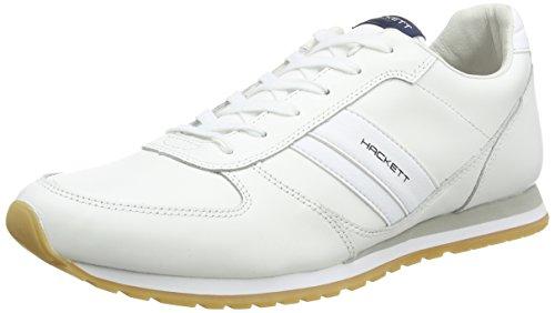 Hackett Stockwood, Scarpe da Ginnastica Basse Uomo, Bianco (White 800), 42 EU