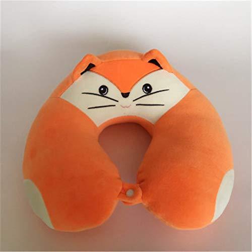 BBQBQ Kissen Cartoon U-Pillow Airplane travel Pillow Office nap Pillow orange 38 * 34 * 14.5cm