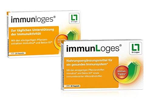 immunLoges von Dr. Loges, 120 Kapseln (PZN 10986597) Für ein gesundes Immunsystem - enthält einen Spezial-Extrakt aus der Spirulina-Alge und hochreine β-Glucane aus Hiratake-Pilzen -