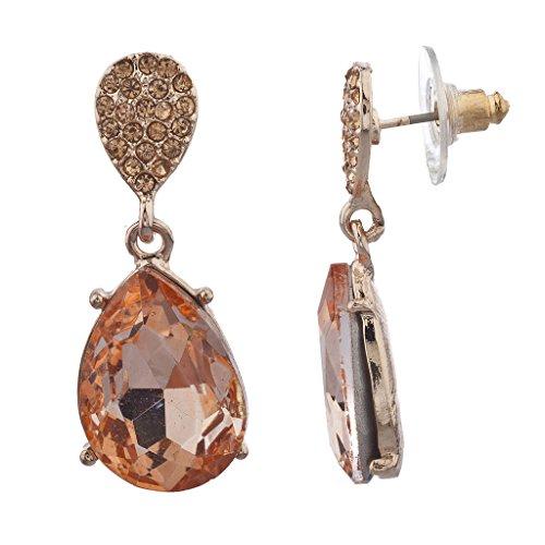 lux-zubehor-rose-gold-ebnen-crystal-und-tropfenform-stein-baumeln-ohrringe