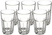 Amazon Brand - Solimo Glass Tumblers, Set of 6 (290ml each)