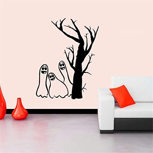 yaoxingfu Halloween Ghost Tree Fenster Wandaufkleber Wandtattoo Vinyl Art Home Room DecorWandtattoosWohnzimmer Sofa Hintergrund Z42x48 cm