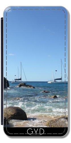 Custodia in PU Pelle per Sony Xperia Z5 - Barche A Vela Caraibi by Christine aka stine1 - Personalizzato Borsa Barche