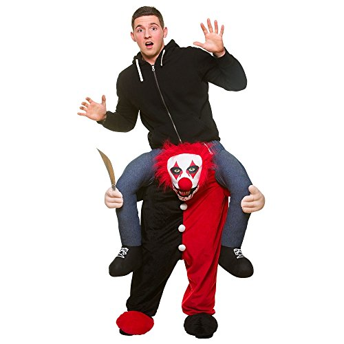 Fancy Dress Halloween Kostüme (Tragen Sie Me® Killer Clown Adult Fancy Dress Kostüm Eine)