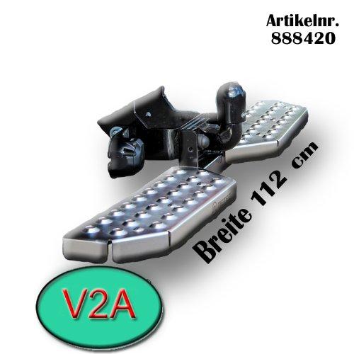 Metec 888420_11 Trittbretter für Anhängerkupplung Auftritt Einstiegshilfe AHK