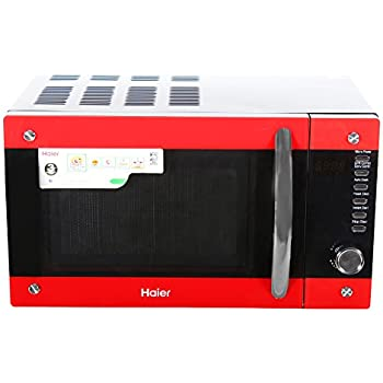 Haier 20 L Convection Microwave Oven (HIL2001CBSH, Black and Red)