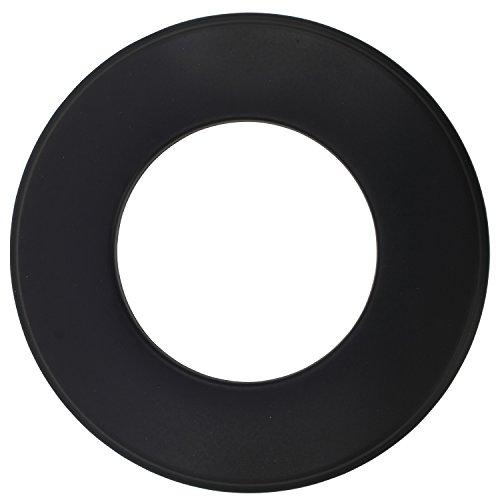 Wandrosette für Pelletofen in der Farbe Schwarz, Ø 80 mm zur Abdeckung des Kaminanschlusses (Schwarzen Schornstein Abdeckung)
