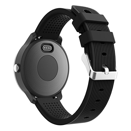 TOPsic Garmin Vivoactive 3 Armband, Verstellbare weiche Silikon Ersatzarmband für Garmin Vivoactive 3/Samsung Gear S2 Classic/Gear Sport/Galaxy 42mm/Galaxy Active