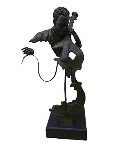 Toperkin Cello Player Bronze Statuen Mann Busts Skulptur Home Dekor TPY-482 -