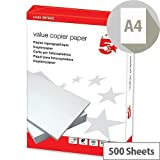 A4weiß KOPIERPAPIER für Laser- und Tintenstrahldrucker Mehrzweck Copy Drucker Papier Dick Qualität 2X Ries