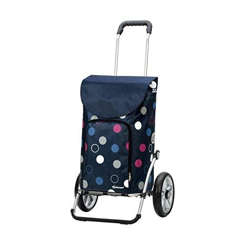 Andersen Shopper Royal mit kugelgelagertem Rad 25 cm und 41 Liter Tasche Kira blau mit Kühlfach