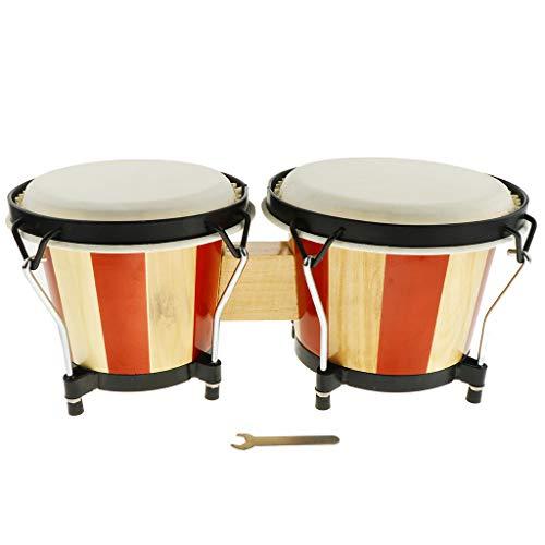 FLAMEER 1 Set Kinder Spielzeug Aus Holz Hand Bongo Trommel Orff Musikinstrumente, Geburtstag Geschenk