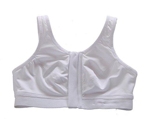 Yvette Zip Fermeture Avant-Gorge De Sport #6015-De Haute Résistance/Course à Pied/Compression Blanc - blanc