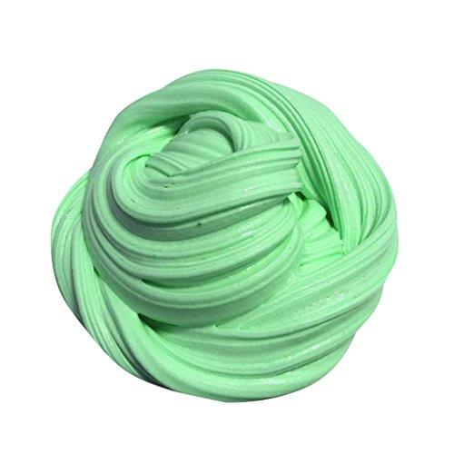 Stress Spielzeug, Feixiang flauschig Floam schlamm Duft Stress Relief keine Borax-Kinder Spielzeug Sludge Spielzeug Grün (Kinder, Düfte, Zahnpasta)