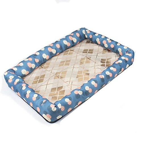 Sommer Pet Mat Pet Cooler Pad Hundekühlunterlage Atmungs Rim Kennel (größe : L)
