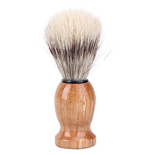 Rrimin Practical Men's Shaving Brush Facial Beard Cleaning Appliance Shave Tool for Men (Light Brown)