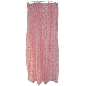 Rideau de douche + Crochets Décor Coeur Love Rose Epaisseur Fine