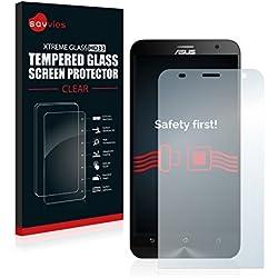 savvies Verre Trempé Compatible avec ASUS ZenFone 2 Laser ZE550KL Film Protection Ecran - 9H