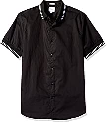 GUESS Mens Laguna Knit Shirt, Jet Black a, M