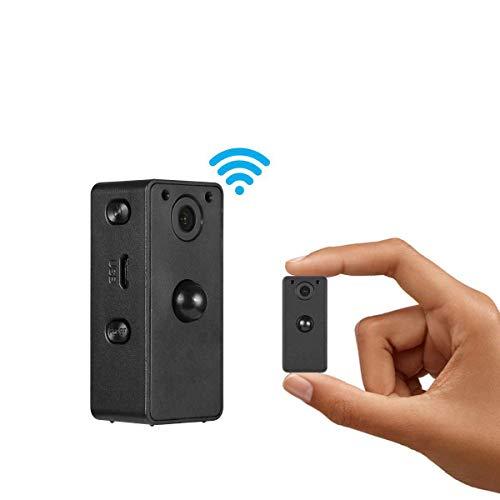 reless Hidden, tragbare Mini-Kamera mit Nachtsicht und Bewegungserkennung, perfekte verdeckte kleine Überwachungskamera für drinnen und draußen ()