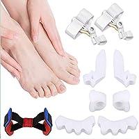 Preisvergleich für Hallux Valgus Korrektur, 9 Stück Fuß-Zehenspreizer, Hallux Valgus Schutz, hilft Fußschmerzen und Hallux Valgus...
