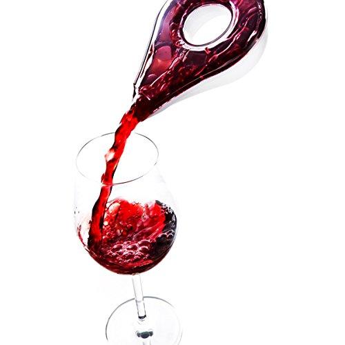 AUVSTAR Decantador de vino rojo creativo vintage mágico rápido vertedor, tipo pétalo, dispensador de filtro, vertedor acrílico, vertedor de uva, cartucho de vino rojo, con filtro de vino