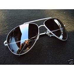 ALPLAND Sonnenbrille Pilotenbrille WEISS inkl. Softbag!